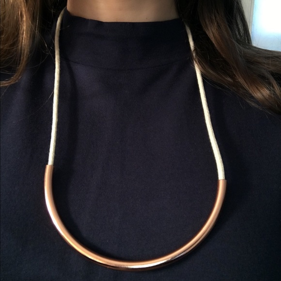 Madewell rope & copper necklace